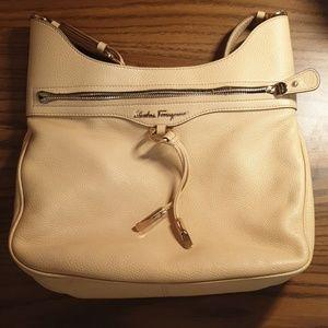 Salvatore Ferragamo Leather Nude/Cream Handbag